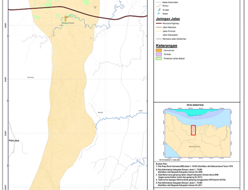 Peta Kecamatan Simpang Mamplam