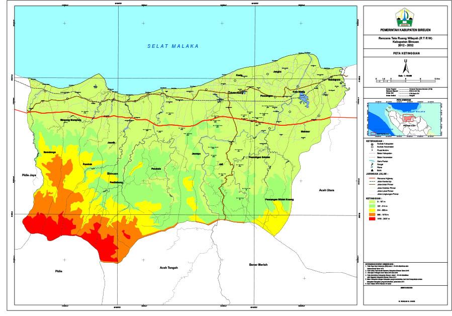 Hasil gambar untuk gambar peta kabupaten bireuen
