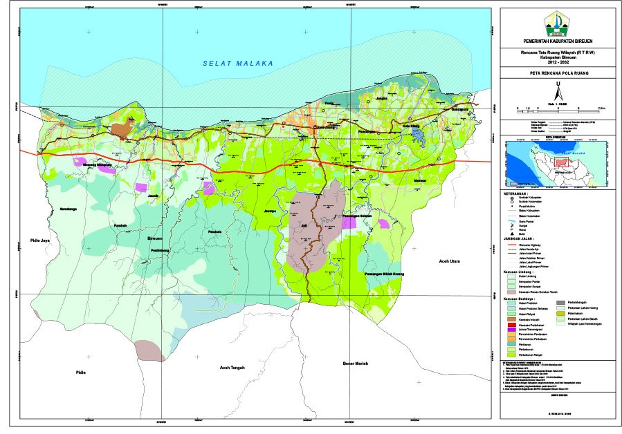 Peta Rencana Pola Ruang