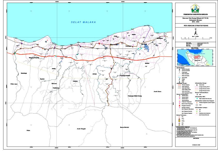 Peta Rencana Struktur Ruang
