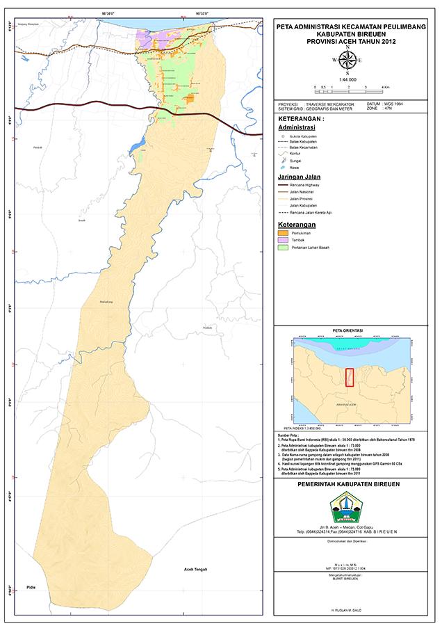 Peta Kecamatan Peulimbang